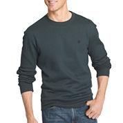 IZOD® Advantage Long-Sleeve Solid Crewneck Fleece