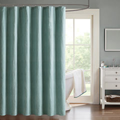 Madison Park Hayden Chevron Jacquard Shower Curtain