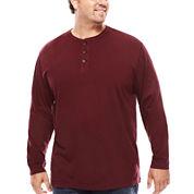 The Foundry Big & Tall Supply Co.™ Long-Sleeve Garment Dye Henley Shirt