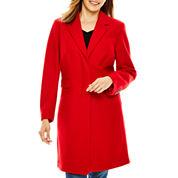 Liz Claiborne® Wool-Blend Walking Coat - Tall