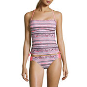 Arizona Mix & Match Side Tie Bandeaukini Swim Top or Hipster Swim Bottom - Juniors