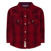 Levi's Boys Long Sleeve Button-Front Shirt
