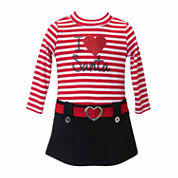 Lilt Long Sleeve Drop Waist Dress - Toddler