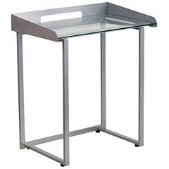 Clear Glass Top Desk