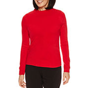 Sag Harbor Long Sleeve Pullover Sweater