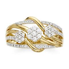 diamond blossom 3/8 CT. T.W. Diamond Criss-Cross Ring