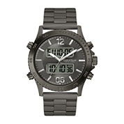 Caravelle New York® Mens Gunmetal Stainless Steel Analog/Digital Sport Watch 45B136