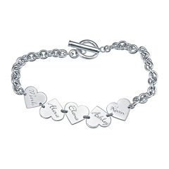 Personalized Heart Family Bracelet