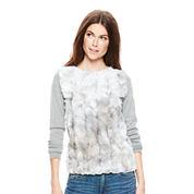 Joe Fresh™ Long-Sleeve Faux-Fur Sweater