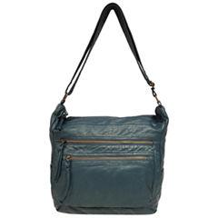 St. John's Bay Pearl Wash Zip Hobo Bag