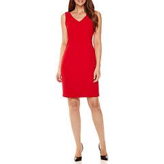 Worthington® Sleeveless V-Neck Sheath Dress