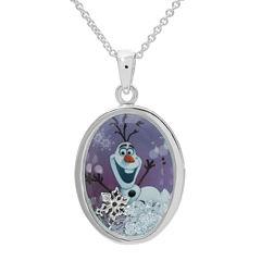 Disney Olaf Girls Oval Shaker Pendant Necklace