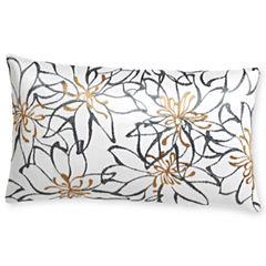 Royal Velvet® Cool White Print Oblong Decorative Pillow