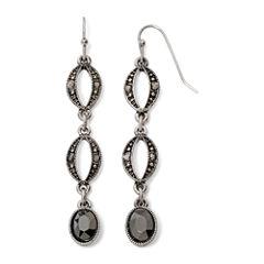 Liz Claiborne® Marcasite-Look Long Earrings