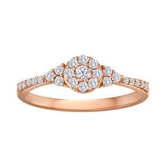 1/3 CT. T.W. Diamond 10K Rose Gold Bridal Ring