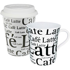 Konitz Café Latte Collage 2-pc. Stay/Go Mug Set