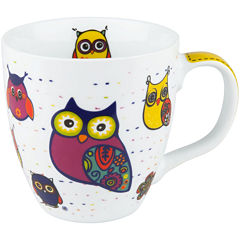 Konitz Owls Set of 4 Mugs