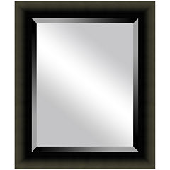 Satin Black Beveled Mirrors