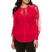 Bisou Bisou Ruffle Illusion Top