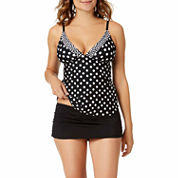 a.n.a® Polka-Dot Tankini Swim Top or Solid Boyshort Bottoms