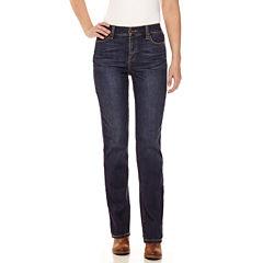 St. John's Bay® Secretly Slender Straight-Leg Jeans - Tall