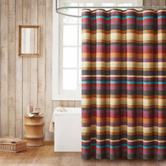 Madison Park Sequoia Printed Shower Curtain