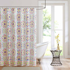 Intelligent Design Hayley Microfiber Shower Curtain