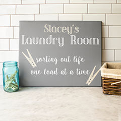 Cathy's Concepts Personalized Laundry Room Canvas