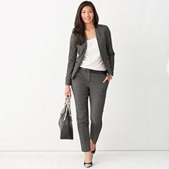 Worthington® Pleather-Trim Suit Blazer, Pleated Neck Blouse or Pleather-Trim Ankle Pants