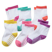 Okie Dokie® 6-pk. Socks - Baby Girls newborn-24m
