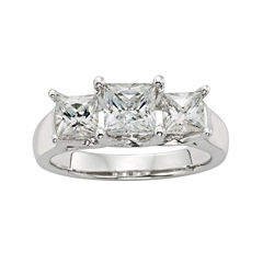 Diamonore™ 1¾ CT. T.W. Simulated Diamond Princess-Cut 3-Stone Ring