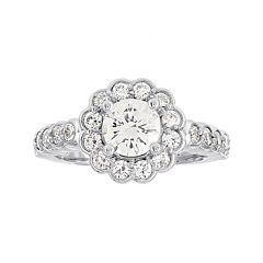 Diamonore™ 1¾ CT. T.W. Simulated Diamond Round Flower-Shaped Ring