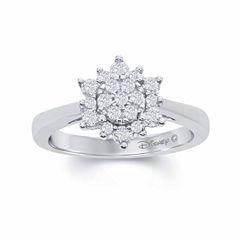 Enchanted by Disney 3/8 C.T. T.W. Diamond 10K White Gold