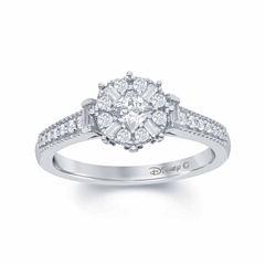 Enchanted by Disney 1/2 C.T. T.W. Diamond 10K White Gold
