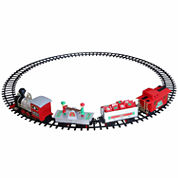 Blue Hat Toy Company North Pole Junction Christmas Train Set