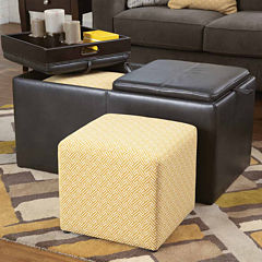 Signature Design by Ashley® Hodan Ottoman with Storage Set