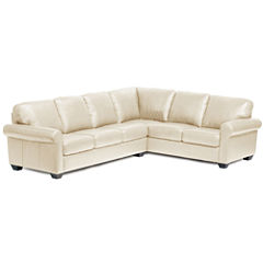 Leather Possibilities Roll-Arm 2-pc. Right-Arm Corner Sectional