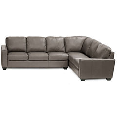 Leather Possibilities 2-pc. Right-Arm Corner Sofa Sectional
