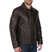 New Zealand Lambskin Leather Jacket–Big & Tall