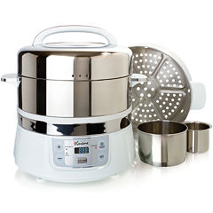 Euro-Cuisine® Stainless Steel 2-Tier Electric Food Steamer