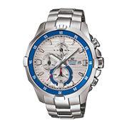 Casio® Edifice Marine Mens Silver-Tone Chronograph Watch EFM502D-7A