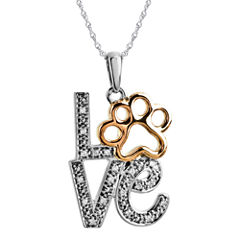 ASPCA® Tender Voices™ Diamond-Accent Stacked Love Animal Pendant Necklace