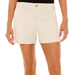 Liz Claiborne® Stretch Twill Shorts