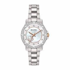 Bulova Womens Silver Tone Bracelet Watch-98l232