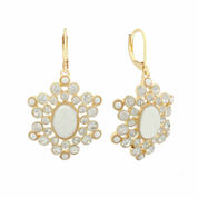 Monet White And Goldtone Chandelier Earring
