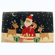 Santa's Reindeer Rectangle Doormat - 18
