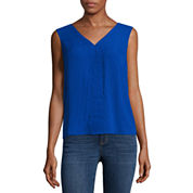 a.n.a Sleeveless V Neck Georgette Blouse