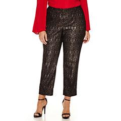 Worthington® Jacquard Ankle Pants - Plus
