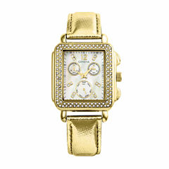 Geneva Womens Gold Tone Strap Watch-Pt1820gdgd