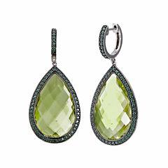 Yellow Quartz Sterling Silver Drop Earrings